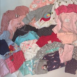 Lot of baby girl clothes - various brands